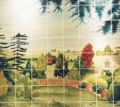 Aga tile panel or mural - room with a view on hand painted tiles