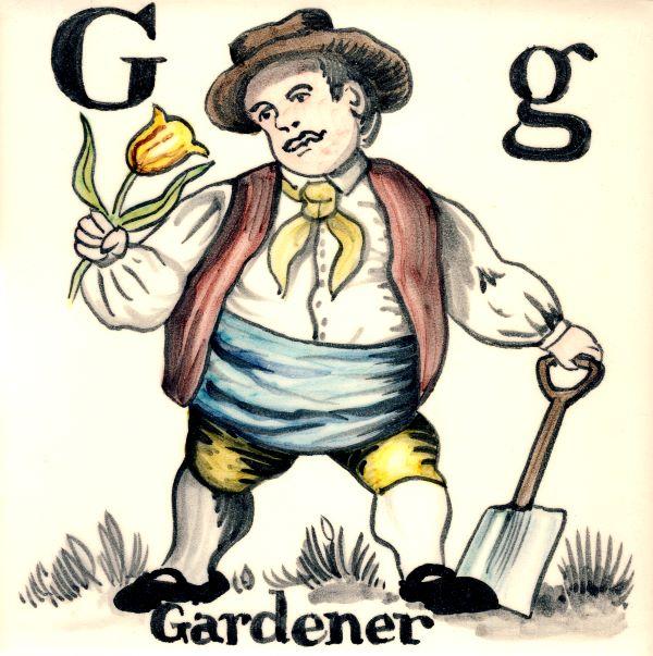 Alphabet Tile G-Gardner
