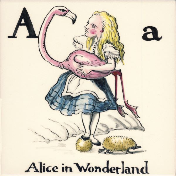 Alphabet-tile-A-Alice-in-Wonderland