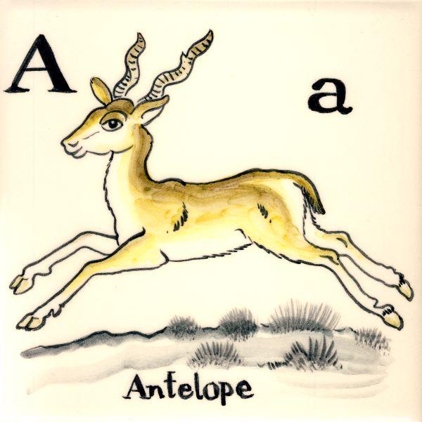 Alphabet-tile-A-Antalope