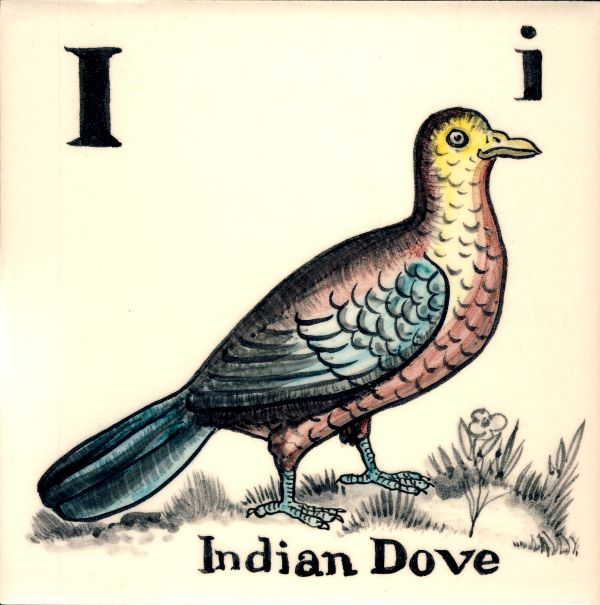 Alphabet-tile-I-Indian dove