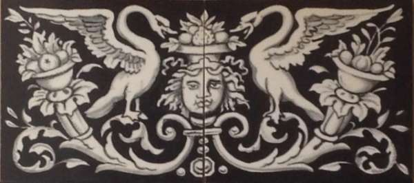 Border Tile - Black, Classical Design