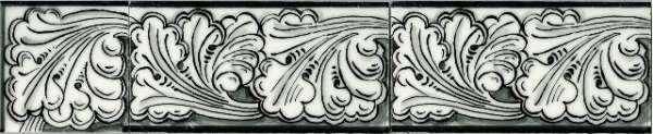 Border tile - black 4