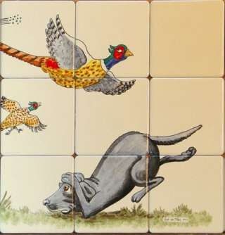 Bryn Parry Tile Mural 6 on hand painted tiles
