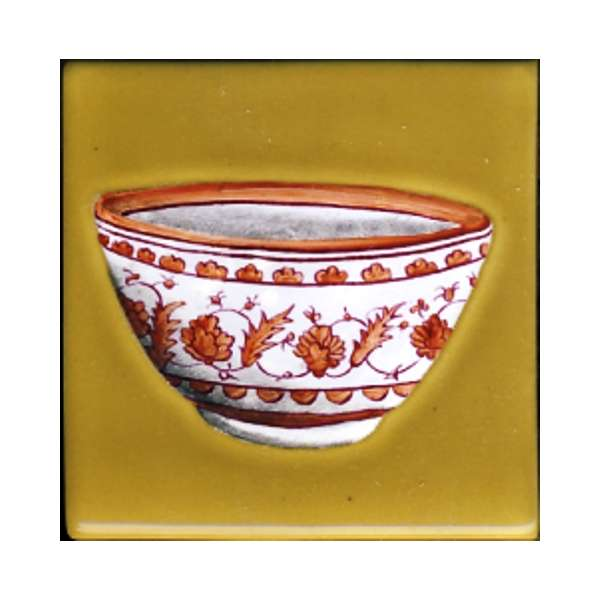 Chinese bowls - client request on hand painted tiles