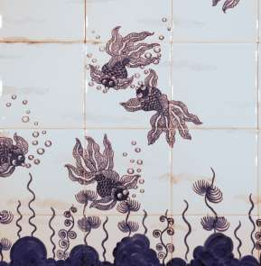 Chinese Fish on hand painted tiles