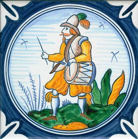 Delft soldier 4 on hand painted tiles