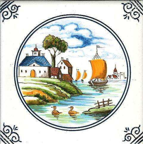Delft colour tile