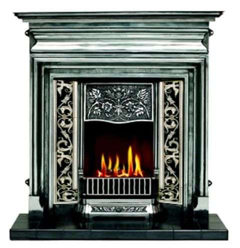 Fireplace - black and white borders 2