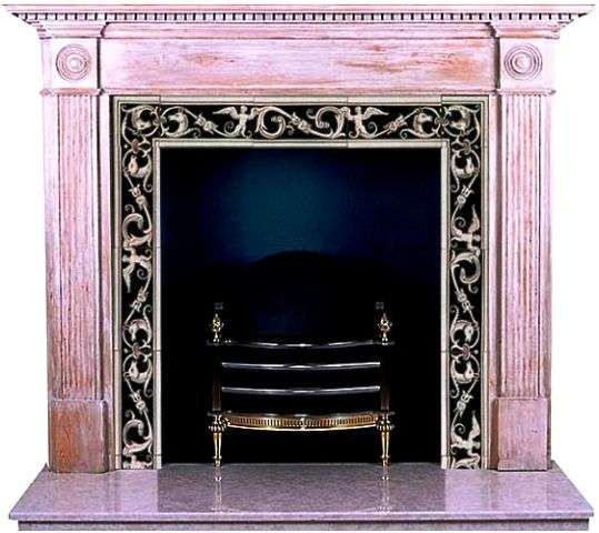 Fireplace - black and white borders