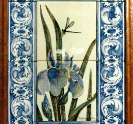 Framed panel - irises