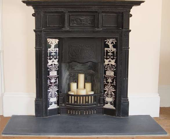 Tiles for fireplace surrounds, hearths and wood burning stoves