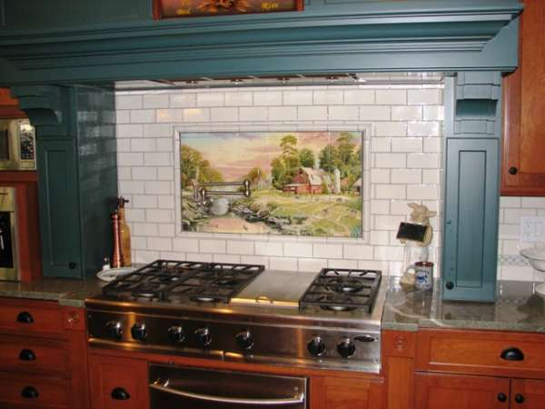 Hand painted tiles for kitchens