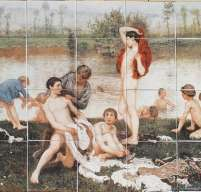 Classical Victorian Scene on digital tiles