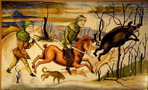 Mediaeval boar hunt