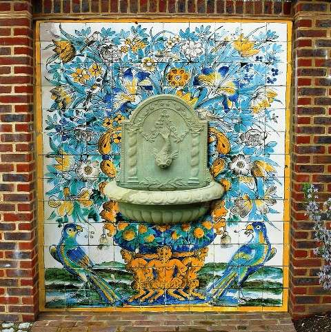 Portuguese Fountain Panel 2 Art On Tiles Hand Painted Tiles