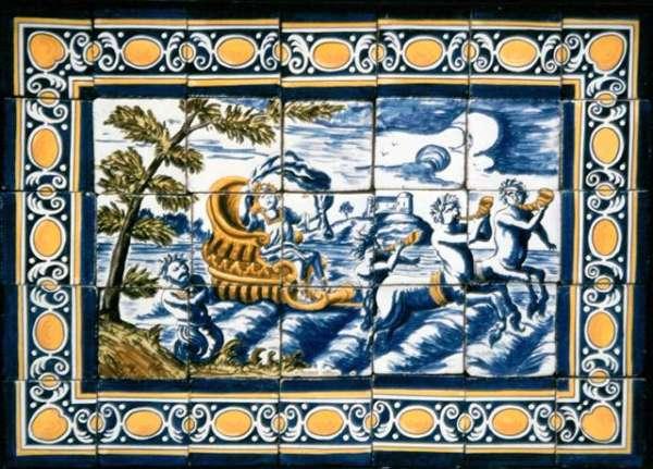 Portuguese 17th century tile panel