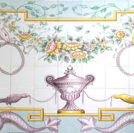 Portuguese Classical Panel on hand painted tiles