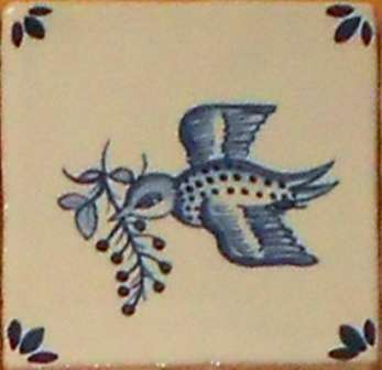 Rustic Delft Tiles 3 on hand painted tiles