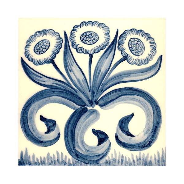 Delft tiles - William Morris blue & white 4