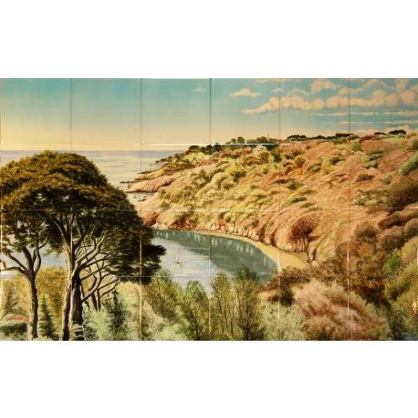 Landscapes hand painted tile murals