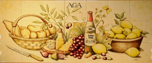 Aga tile panel or mural client's favourites