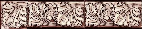 Border tile - sepia