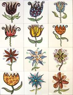 Funky flower designs