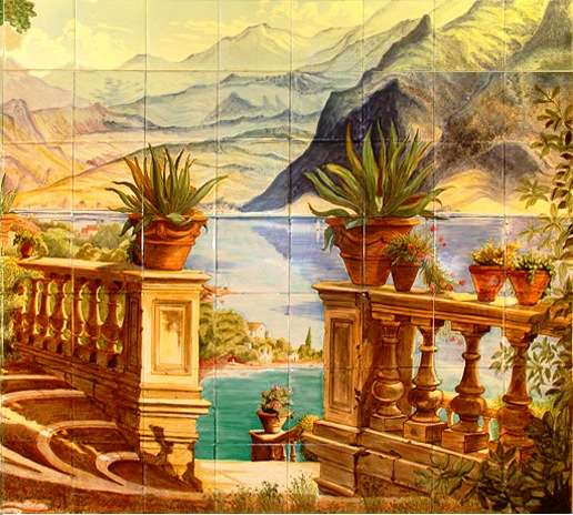 Tile Mural of Lake Como