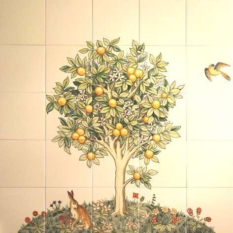 Lemon tree tile panel