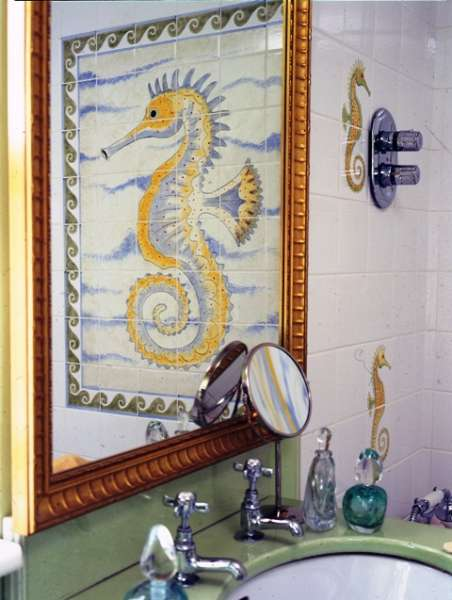 hand painted tiles for bathrooms