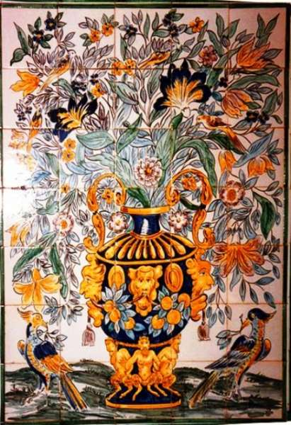 Portuguese vase of flowers