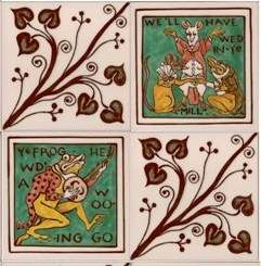 Walter Crane Single Decor on hand painted tiles