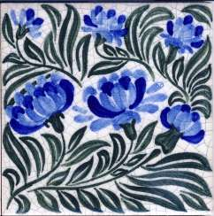William Morris on hand painted tiles