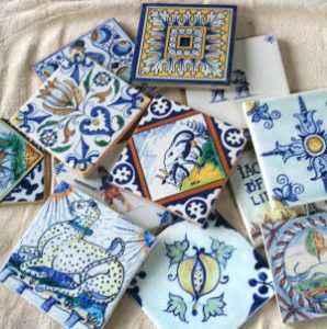 how to hand paint delft tiles course