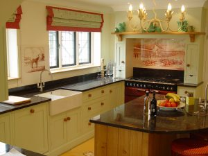 Hand painted tiles for sink splashbacks